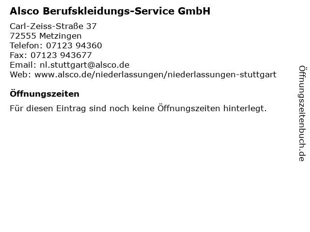 Alsco Berufskleidungs-Service GmbH in Metzingen: Adresse und Öffnungszeiten
