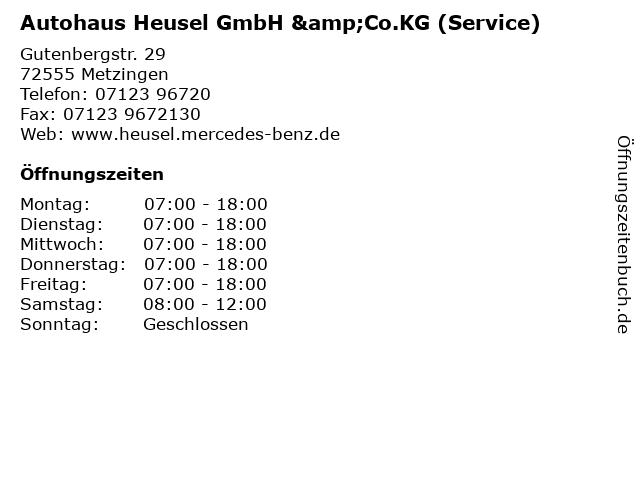 Autohaus Heusel GmbH &Co.KG (Service) in Metzingen: Adresse und Öffnungszeiten