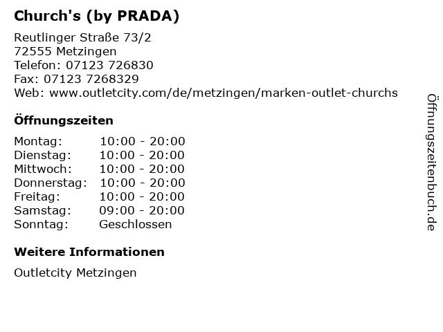 Church's (by PRADA) in Metzingen: Adresse und Öffnungszeiten