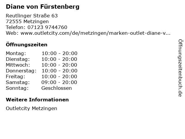 Diane von Fürstenberg in Metzingen: Adresse und Öffnungszeiten