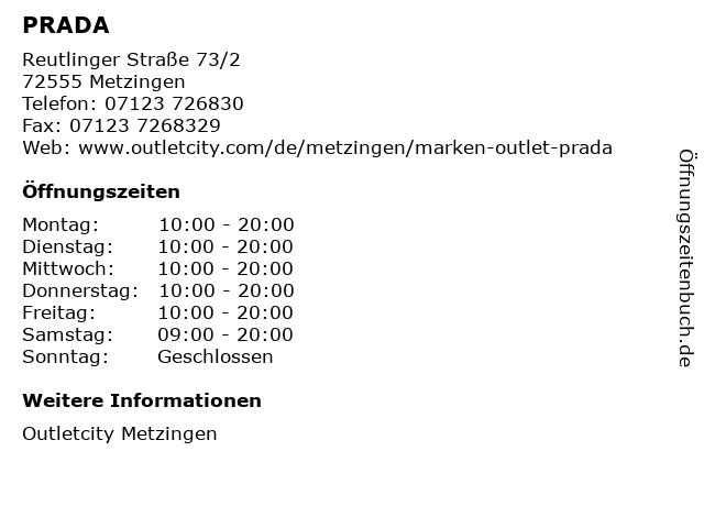 PRADA in Metzingen: Adresse und Öffnungszeiten
