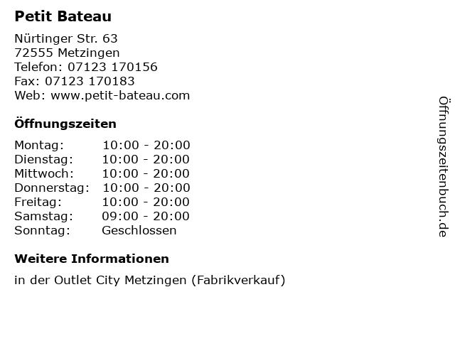 Petit Bateau in Metzingen: Adresse und Öffnungszeiten