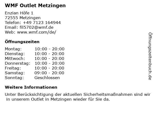 WMF Outlet Metzingen in Metzingen: Adresse und Öffnungszeiten