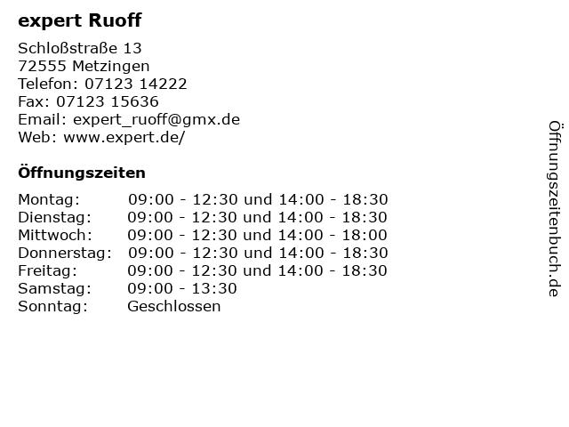 expert Ruoff in Metzingen: Adresse und Öffnungszeiten