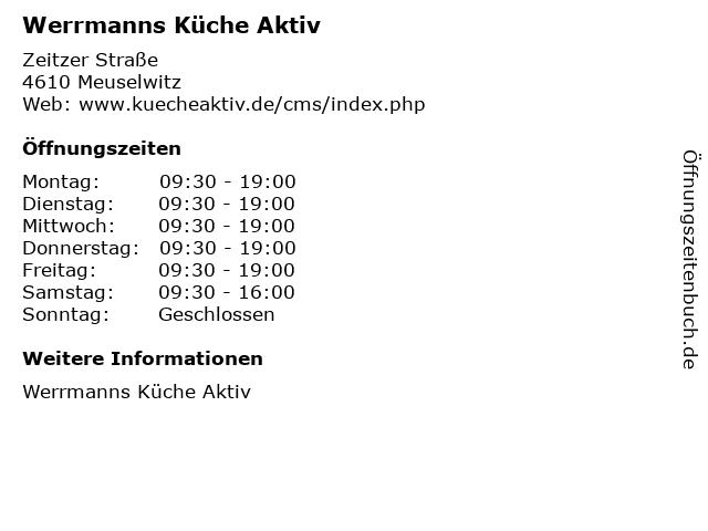 Werrmanns Küche Aktiv in Meuselwitz: Adresse und Öffnungszeiten