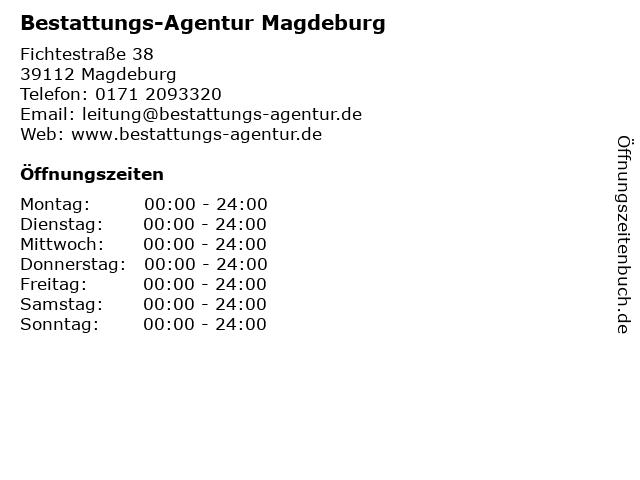 Bestattungs-Agentur Magdeburg in Magdeburg: Adresse und Öffnungszeiten