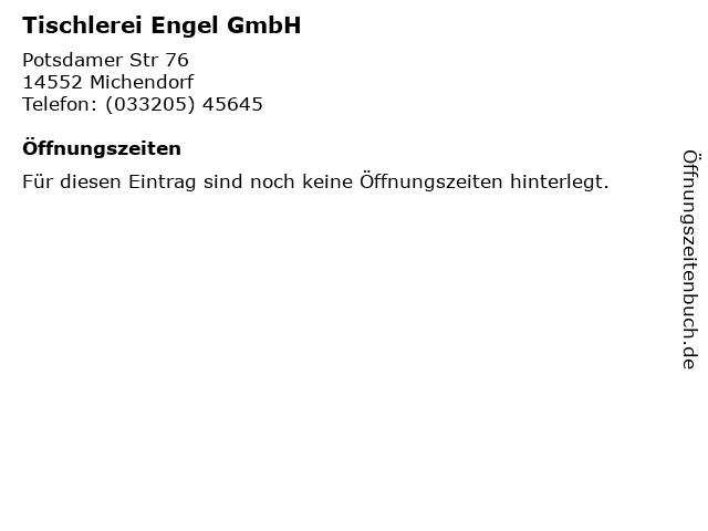Tischlerei Engel GmbH in Michendorf: Adresse und Öffnungszeiten