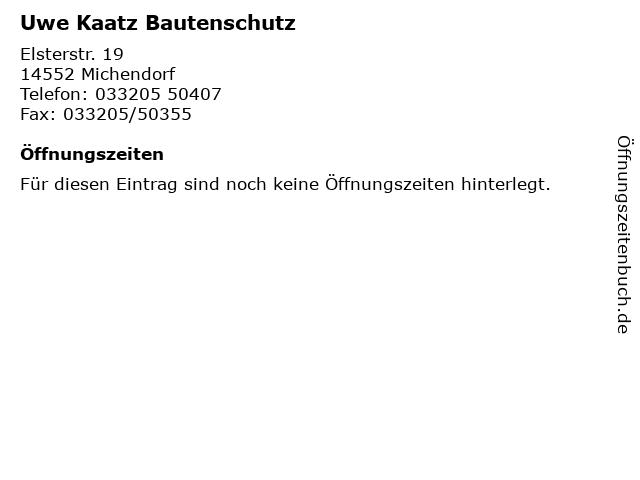 Uwe Kaatz Bautenschutz in Michendorf: Adresse und Öffnungszeiten