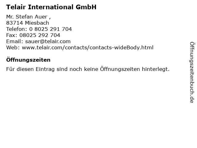 Telair International GmbH in Miesbach: Adresse und Öffnungszeiten