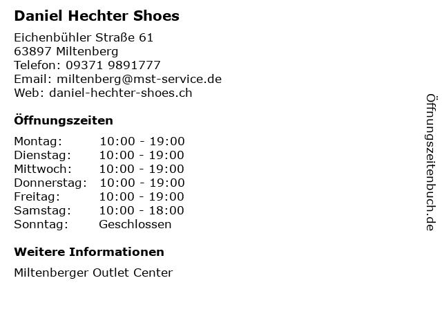 Daniel Hechter Shoes in Miltenberg: Adresse und Öffnungszeiten