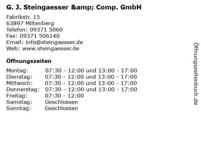ᐅ öffnungszeiten Steingaesser Gj Comp Waldsamendarren U