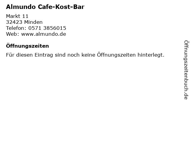 Almundo Cafe-Kost-Bar in Minden: Adresse und Öffnungszeiten