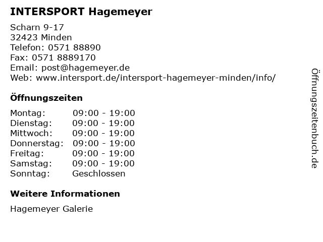 INTERSPORT Hagemeyer in Minden: Adresse und Öffnungszeiten