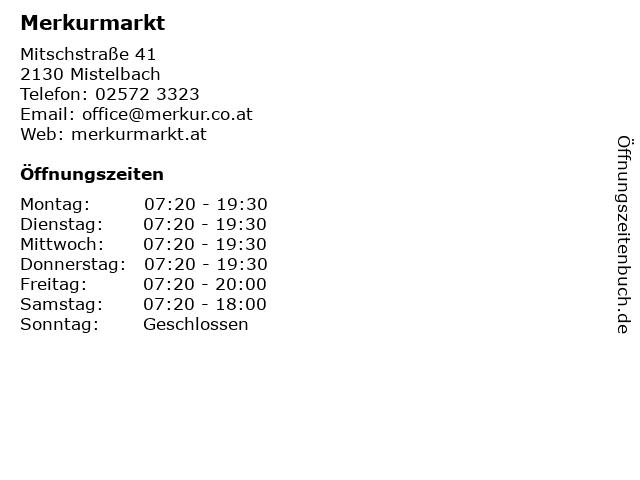 Merkurmarkt in Mistelbach: Adresse und Öffnungszeiten