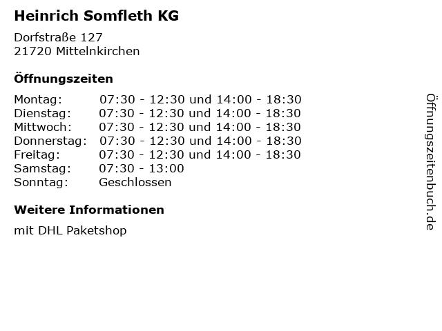 Heinrich Somfleth KG in Mittelnkirchen: Adresse und Öffnungszeiten