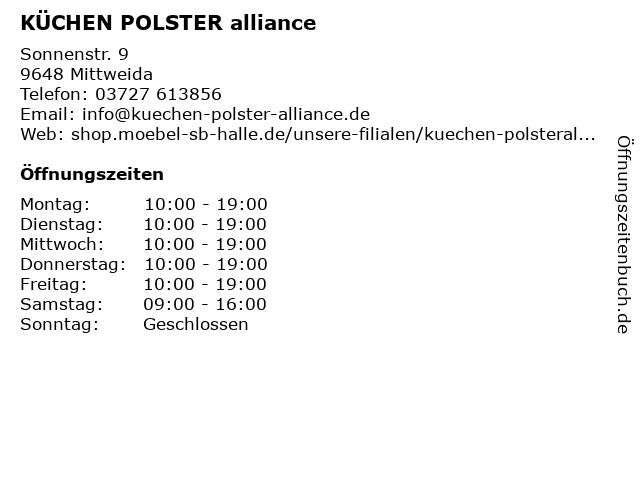ᐅ Offnungszeiten Mobel Sb Halle Gmbh Fil Mittweida Sonnenstr