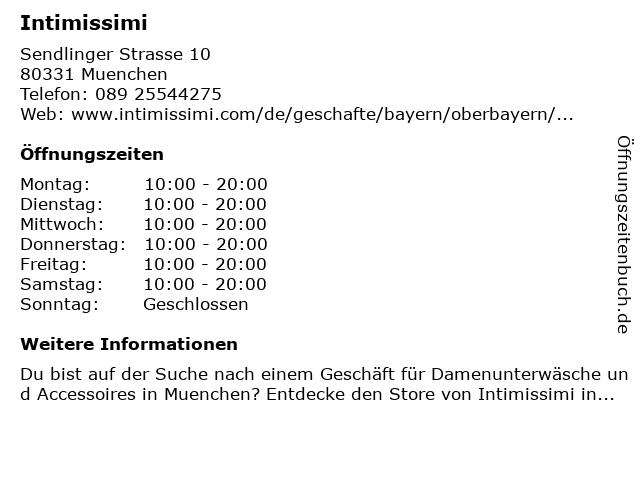 intimissimi in München: Adresse und Öffnungszeiten