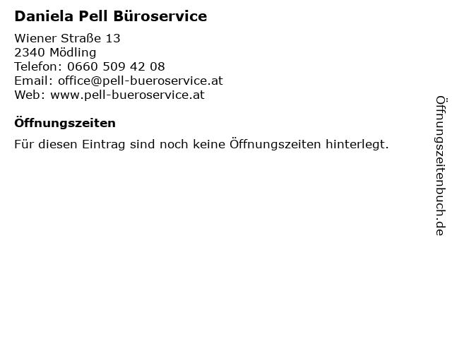 Daniela Pell Büroservice in Mödling: Adresse und Öffnungszeiten