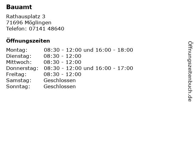 Bauamt in Möglingen: Adresse und Öffnungszeiten