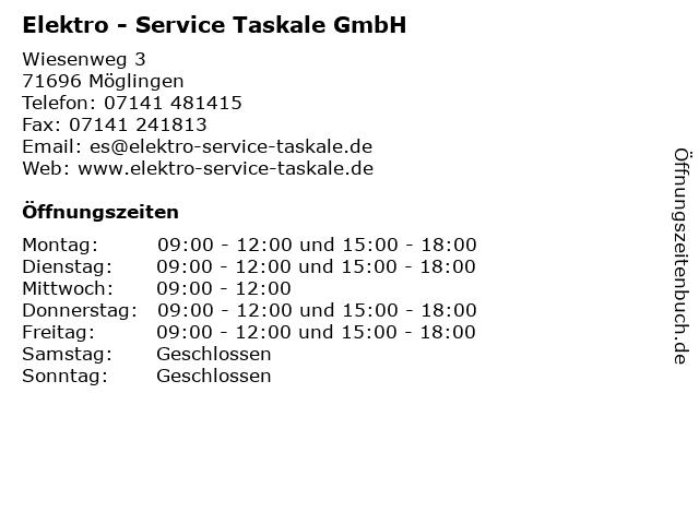 Elektro - Service Taskale GmbH in Möglingen: Adresse und Öffnungszeiten