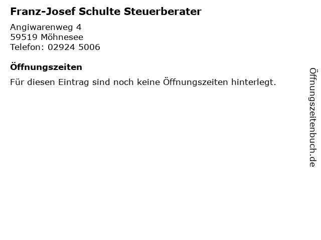 Franz-Josef Schulte Steuerberater in Möhnesee: Adresse und Öffnungszeiten