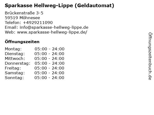 Sparkasse SoestWerl - (Geldautomat Geschäftsstelle) in Möhnesee: Adresse und Öffnungszeiten