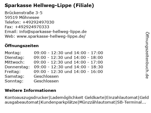 Sparkasse SoestWerl - Geschäftsstelle Körbecke in Möhnesee: Adresse und Öffnungszeiten