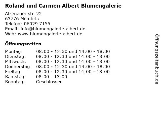 Roland und Carmen Albert Blumengalerie in Mömbris: Adresse und Öffnungszeiten