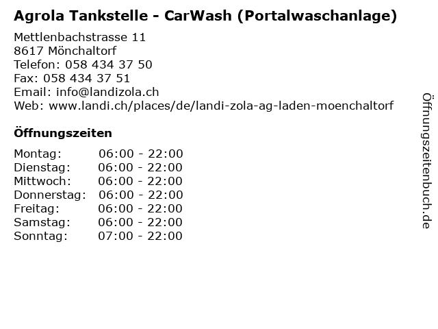 Agrola Tankstelle - CarWash (Portalwaschanlage) in Mönchaltorf: Adresse und Öffnungszeiten