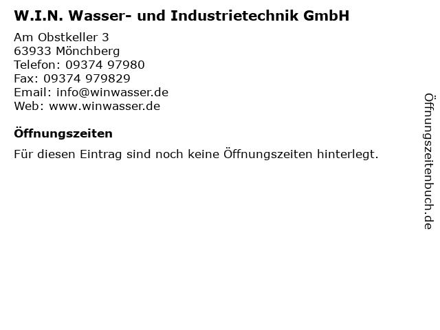 W.I.N. Wasser- und Industrietechnik GmbH in Mönchberg: Adresse und Öffnungszeiten