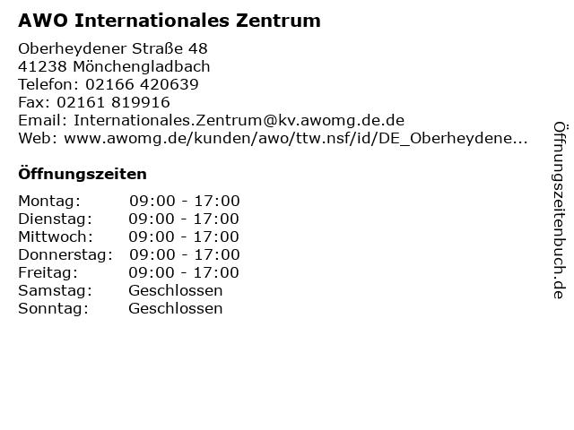 AWO Internationales Zentrum in Mönchengladbach: Adresse und Öffnungszeiten