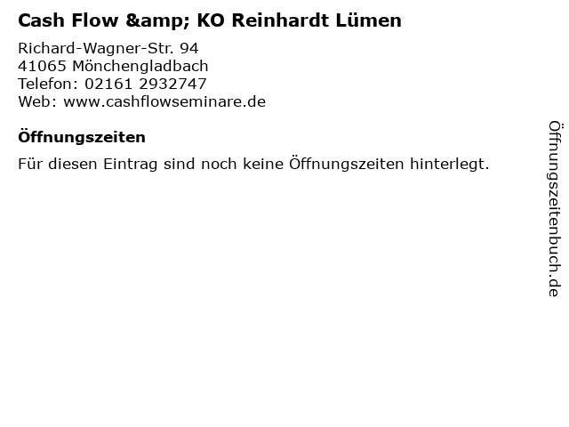 Cash Flow & KO Reinhardt Lümen in Mönchengladbach: Adresse und Öffnungszeiten