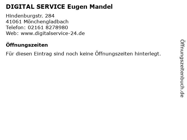 DIGITAL SERVICE Eugen Mandel in Mönchengladbach: Adresse und Öffnungszeiten