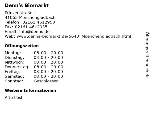 Denn's Biomarkt in Mönchengladbach: Adresse und Öffnungszeiten