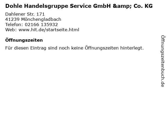 Dohle Handelsgruppe Service GmbH & Co. KG in Mönchengladbach: Adresse und Öffnungszeiten