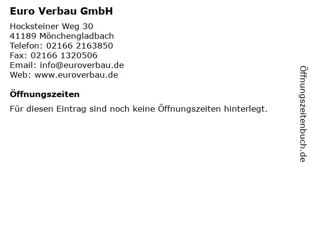 Euro Verbau GmbH in Mönchengladbach: Adresse und Öffnungszeiten