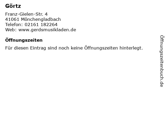Görtz in Mönchengladbach: Adresse und Öffnungszeiten