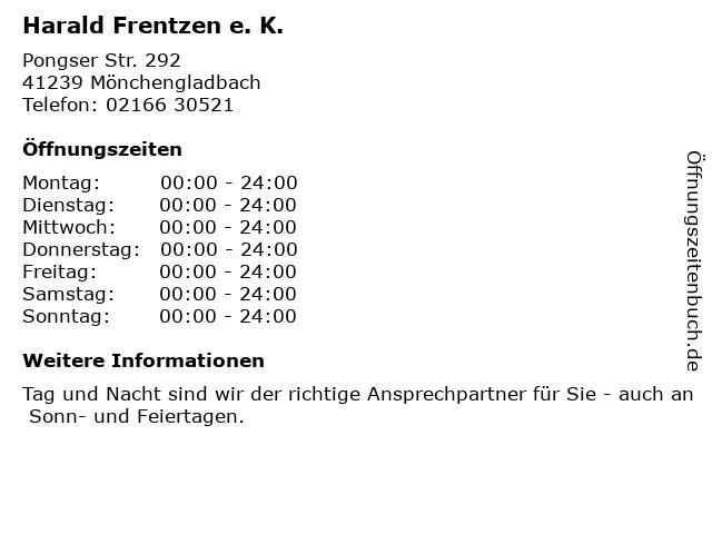 Harald Frentzen e. K. in Mönchengladbach: Adresse und Öffnungszeiten