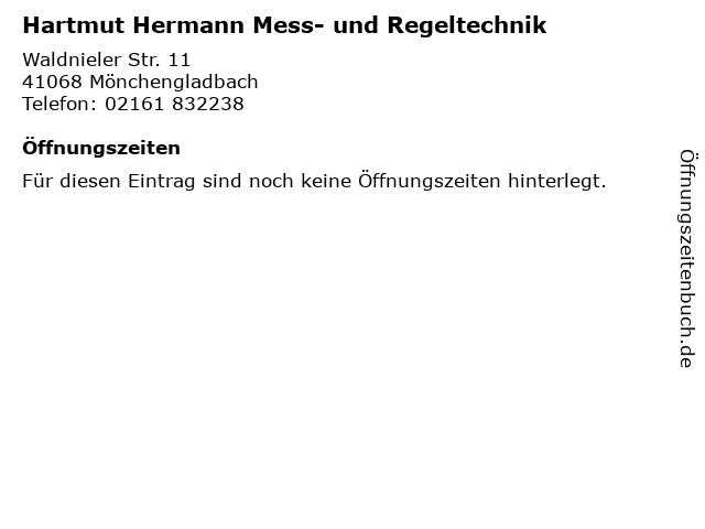Hartmut Hermann Mess- und Regeltechnik in Mönchengladbach: Adresse und Öffnungszeiten