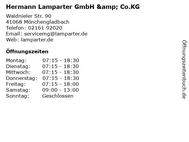 Hermann Lamparter GmbH & Co.KG in Mönchengladbach: Adresse und Öffnungszeiten