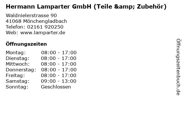 Hermann Lamparter GmbH (Teile & Zubehör) in Mönchengladbach: Adresse und Öffnungszeiten