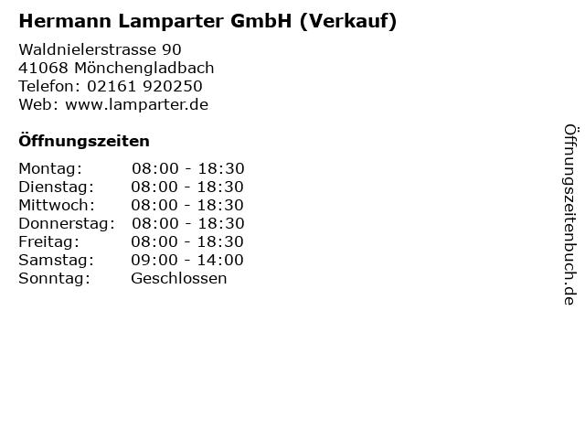 Hermann Lamparter GmbH (Verkauf) in Mönchengladbach: Adresse und Öffnungszeiten