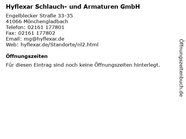 Hyflexar Schlauch- und Armaturen GmbH in Mönchengladbach: Adresse und Öffnungszeiten