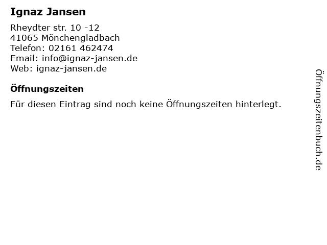Ignaz Jansen in Mönchengladbach: Adresse und Öffnungszeiten