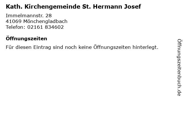 Kath. Kirchengemeinde St. Hermann Josef in Mönchengladbach: Adresse und Öffnungszeiten