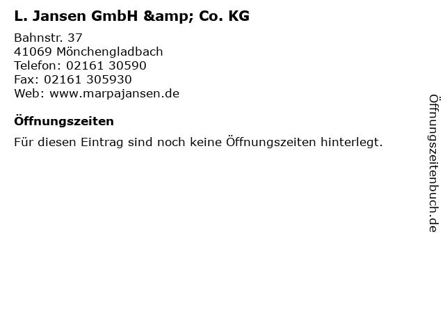 L. Jansen GmbH & Co. KG in Mönchengladbach: Adresse und Öffnungszeiten