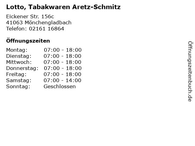 Lotto, Tabakwaren Aretz-Schmitz in Mönchengladbach: Adresse und Öffnungszeiten