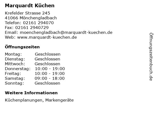 ᐅ Offnungszeiten Marquardt Kuchen Krefelder Strasse 245 In