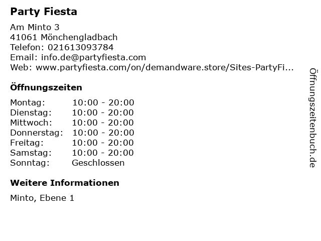 Party Fiesta in Mönchengladbach: Adresse und Öffnungszeiten