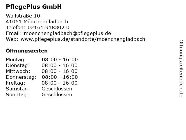 PflegePlus GmbH in Mönchengladbach: Adresse und Öffnungszeiten